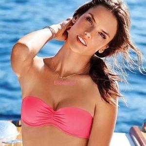 💚Victoria's Secret Push Up Pink Bandeau Bikini